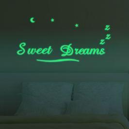 Walplus Svietiaca samolepka na stenu Sweet dreams