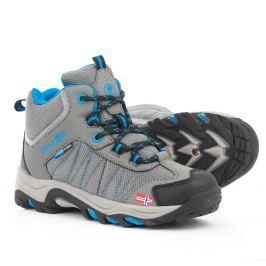 Trollkids Chlapčenská outdoorová obuv Kids Fjell Hiker - šedá