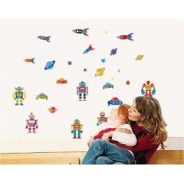Walplus Samolepka na stenu Roboti, 70x50 cm