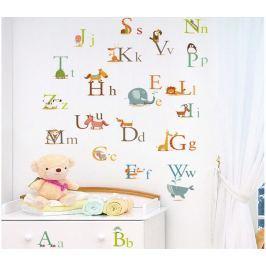Walplus Samolepka na stenu Zvířátková abeceda, 90x60 cm