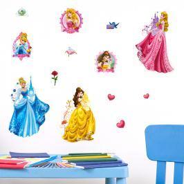 Walplus Samolepka na stenu Disney Princezné, 60x40 cm