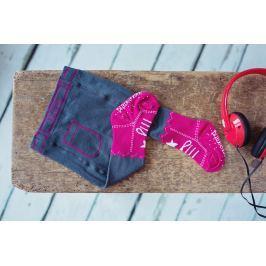 Blade & Rose Dievčenské pančucháče - imitácia jeansov - šedo-ružové