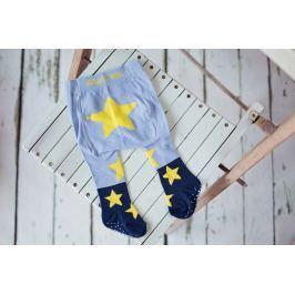 Blade & Rose Detské pančuchy s hviezdičkami - modro-žlté