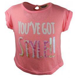Dirkje Dievčenské tričko Style! - ružové