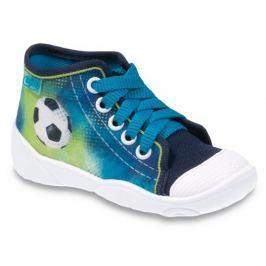 Befado Chlapčenské členkové tenisky s futbalovou loptou Maxi - zeleno-modré