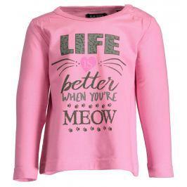 Blue Seven Dievčenské tričko Meow - ružové