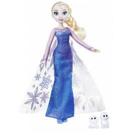 Hasbro Princezná Elsa s trblietavými šatami a kamarátom