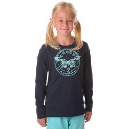 Nordblanc Dievčenské tričko s motýľom - tmavo modré