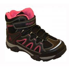 Peddy Dievčenská outdoorová obuv - čierno-ružová