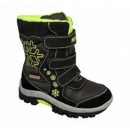 Peddy Chlapčenské snehule - čierno-zelené