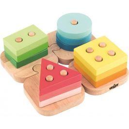 WOODY Skladacie tvary na puzzle podložke