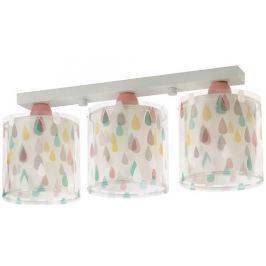 Dalber Detské stropné svietidlo trojité, farebný dážď