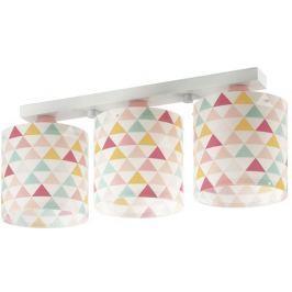Dalber Detské stropné svietidlo trojité, trojuholníky