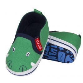 SOXO® Chlapčenské papučky s krokodílom - zelené