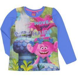 E plus M Dievčenské tričko Trollovia - modré