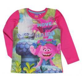 E plus M Dievčenské tričko Trollovia - ružové