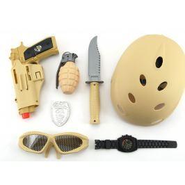 Teddies Vojenská súprava s helmou plast 7 ks