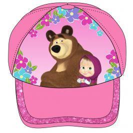 E plus M Dievčenská šiltovka Máša a Medveď - ružová
