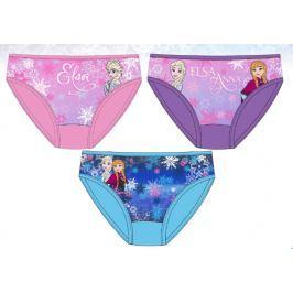 E plus M Dievčenské set 3ks nohavičiek Frozen - farebný
