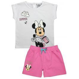 E plus M Dievčenské letné set Minnie - ružovo-biely