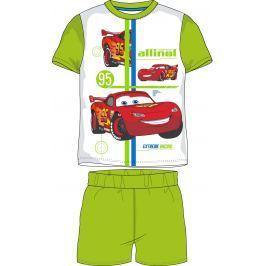 E plus M Chlapčenské letné pyžamo Cars - zeleno-biele