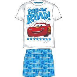 E plus M Chlapčenské letné pyžamo Cars - modro-biele