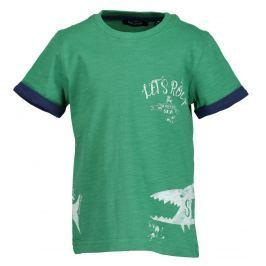 Blue Seven Chlapčenské tričko so žralokom - zelené