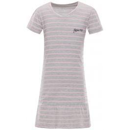ALPINE PRO Dievčenské šaty Chenoo 2 s prúžkami - šedé
