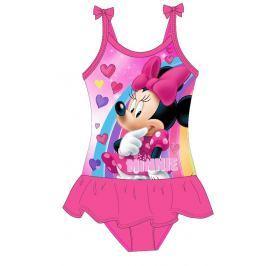 E plus M Dievčenské jednodielne plavky Minnie - ružové