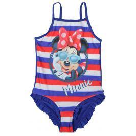 E plus M Dievčenské jednodielne plavky Minnie - modré