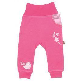 2be3 Dievčenské tepláky s vtáčikom Cute - ružové