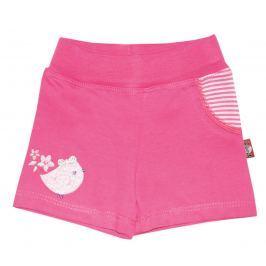 2be3 Dievčenské kraťasy s vtáčikom Cute ružové