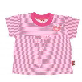 2be3 Dievčenské tričko s vtáčikom Cute - ružové