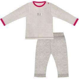 Nini Dievčenské pyžamo s mačičkou - šedé