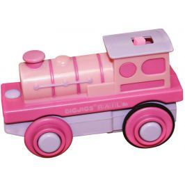 Bigjigs Elektrická lokomotíva ružová