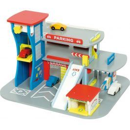 Bigjigs Toys Drevená garáž pre autá