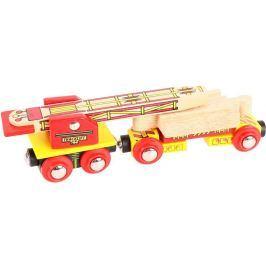 Bigjigs Rail vagónik so žeriavom na koľaje