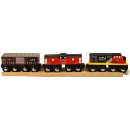 Bigjigs Rail CN nákladný vlak + koľaje