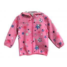Topo Dievčenská softshellová bunda s hviezdičkami - ružová