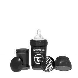 TWISTSHAKE Dojčenská fľaša Anti-Colic 180ml, Čierna