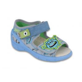 Befado Chlapčenské sandále Sunny - šedé