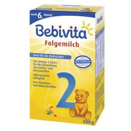 Bebivita Mlieko 2 Instantné následná mliečna dojčenská výživa od uk. 6. mesiaca - NOVINKA 4x500g