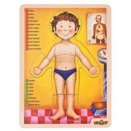 WOODY Puzzle - ľudské telo
