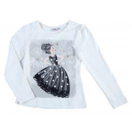 Topo Dievčenské tričko s potlačou - biele