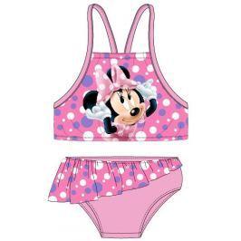 E plus M Dievčenské dvojdielne plavky Minnie - ružové