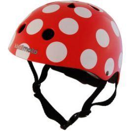 Kiddimoto Cyklistická prilba Dotty - červená, veľkosť M