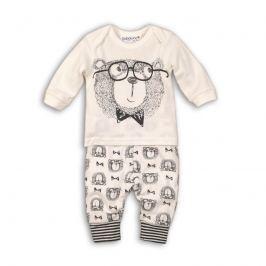 Minoti Chlapčenský dvojkomplet tepláčky + tričko - biely