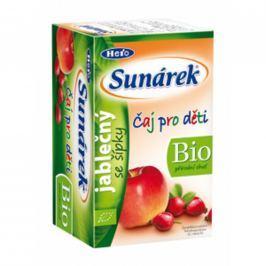Sunárek BIO detský čaj jablkový so šípkami 20x1,5g