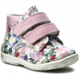 Ren But Dievčenské celokožené členkové topánky - kvetinové