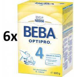 BEBA dojčenské mlieko PRO 4, 6x600g